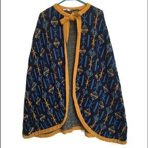PRICE FINAL 50s Vintage Knitwear Cape